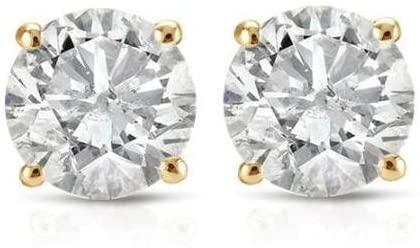 PARIKHS (IGI Certified 0.70ct & up) Round Diamond stud Plus Quality 0.04ct-2.00ct, Clarity I3-I4
