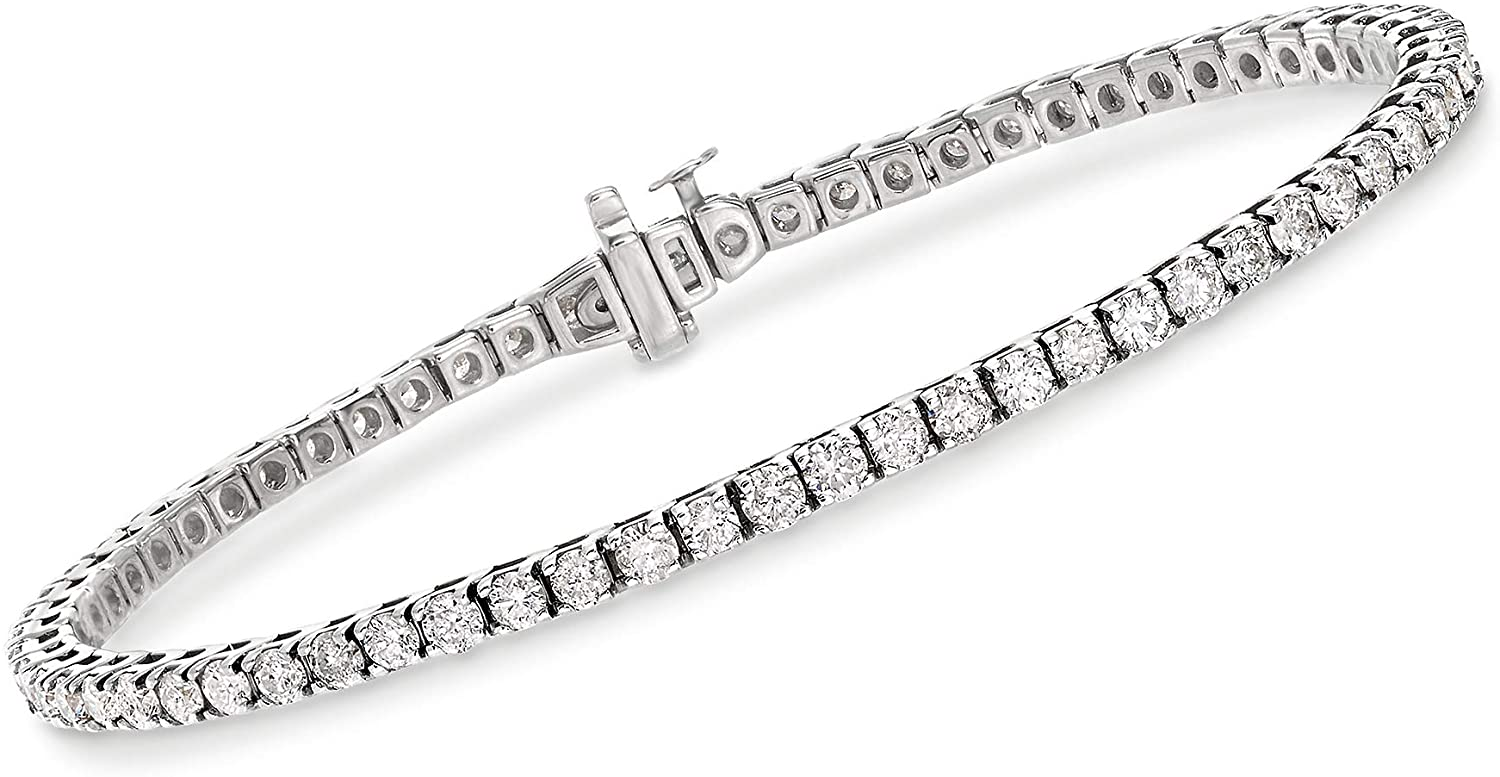 Ross-Simons 4.00-4.50 ct. t.w. Diamond Tennis Bracelet in 14kt White Gold