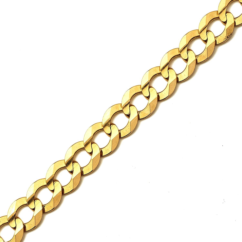 MR. BLING 10k Yellow Gold 12mm Plain Solid Curb Cuban Bracelet W/Lobster Lock (7