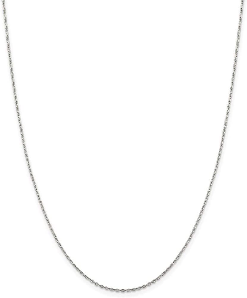 925 Sterling Silver Flat Cable Chain Necklace Jewelry Gifts for Women in Silver Choice of Lengths 16 18 20 24 30 and 0.5mm 0.9mm 1.15mm 1mm 2.75mm 2mm