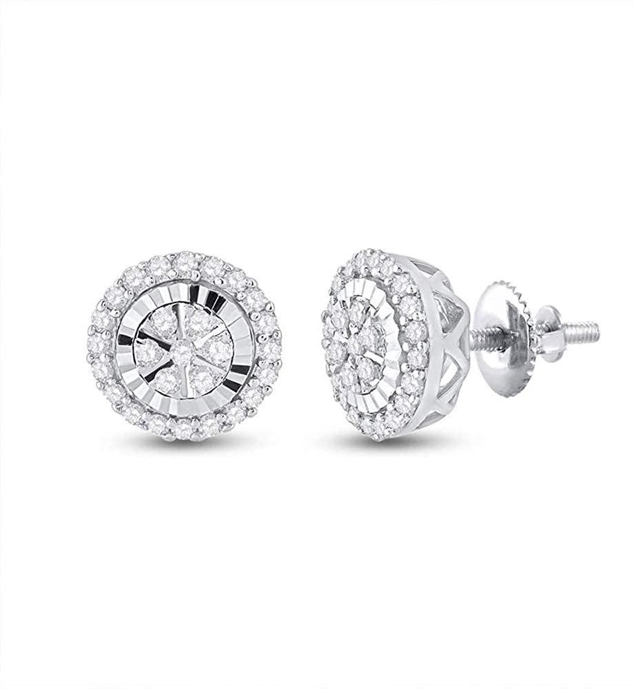 LU DIAMONDS 14K White Gold Diamond Earrings 1/4 Ctw.