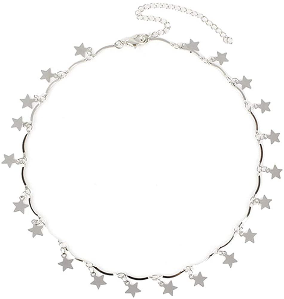 CSIYANJRY99 Star Choker Necklace Gold/Silver Star Necklace Choker for Women Dainty Choker Necklace Holiday Jewelry Gift
