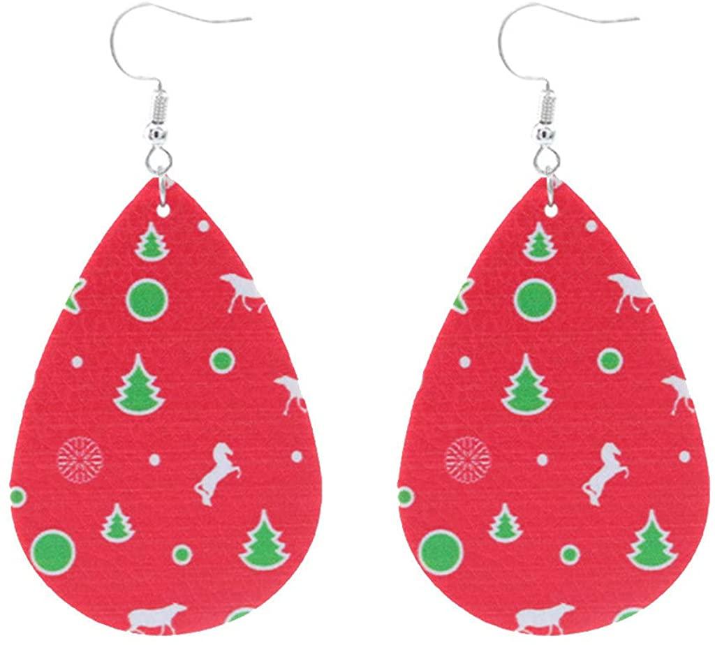 Womens Christmas Earrings Jewelry Christmas Hook Drop Dangle Earring Charm Eardrop Jewelry Bohemian Jewelry Gift