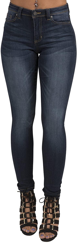 Poetic Justice Women's Curvy Fit Stretch Denim Classic Skinny Jeans
