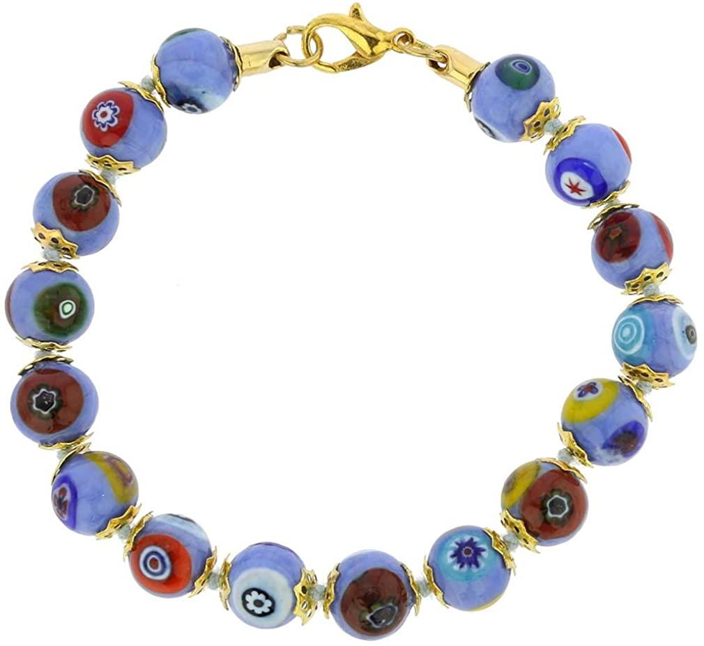 GlassOfVenice Murano Glass Mosaic Bracelet - Periwinkle