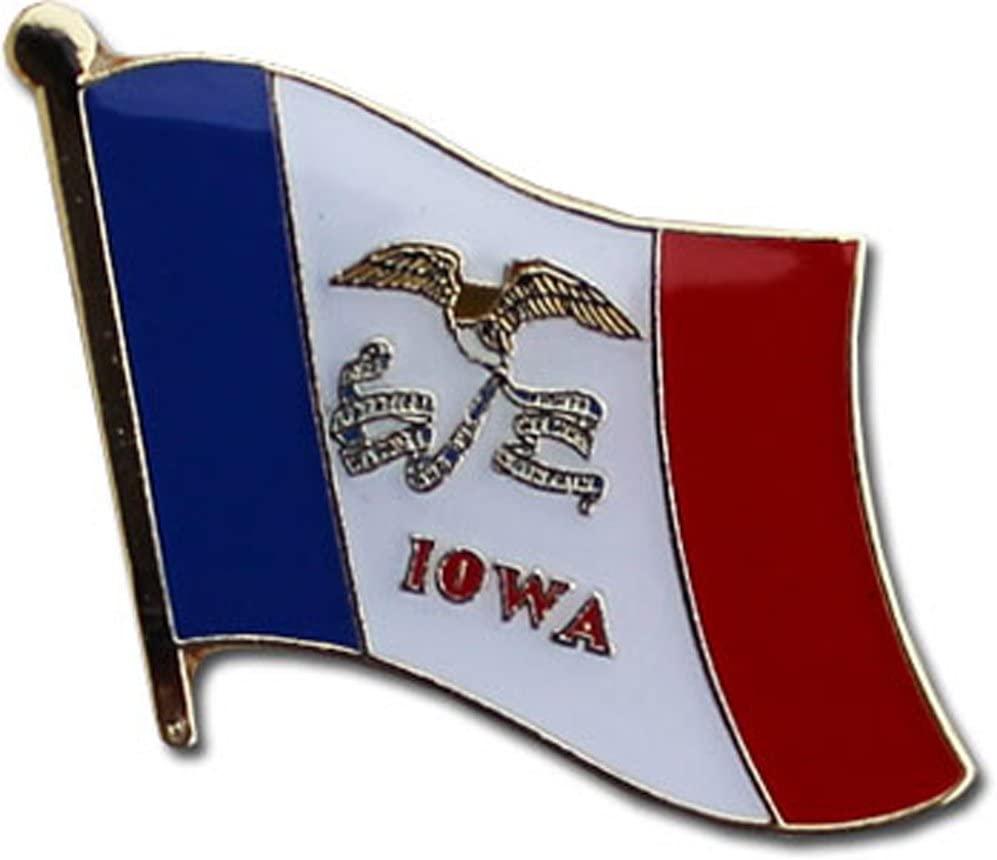 Flagline Iowa - State Lapel Pin