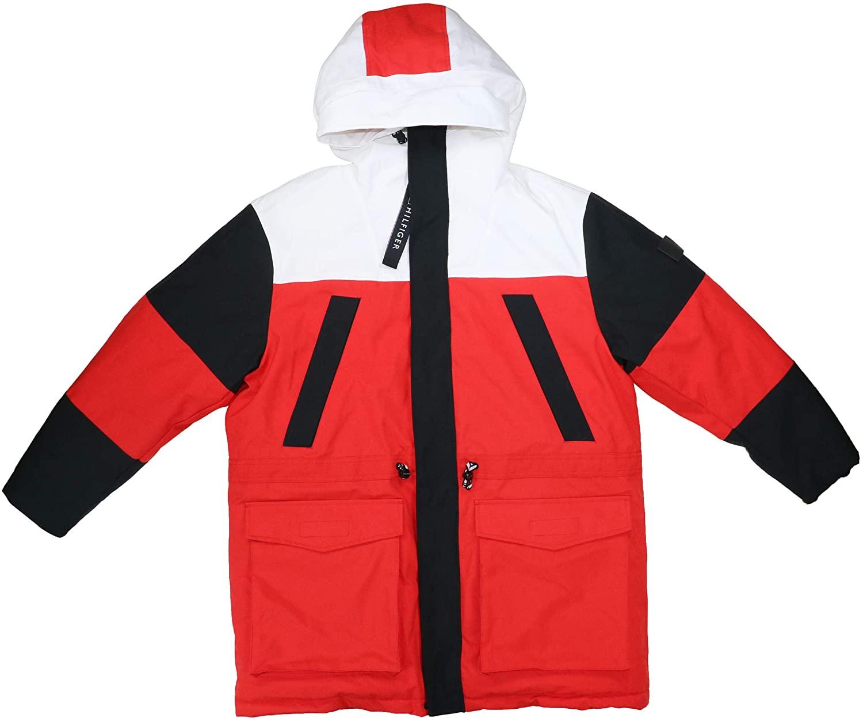 Tommy Hilfiger Colorblock Full Zip Heavyweight Hooded Parka Coat