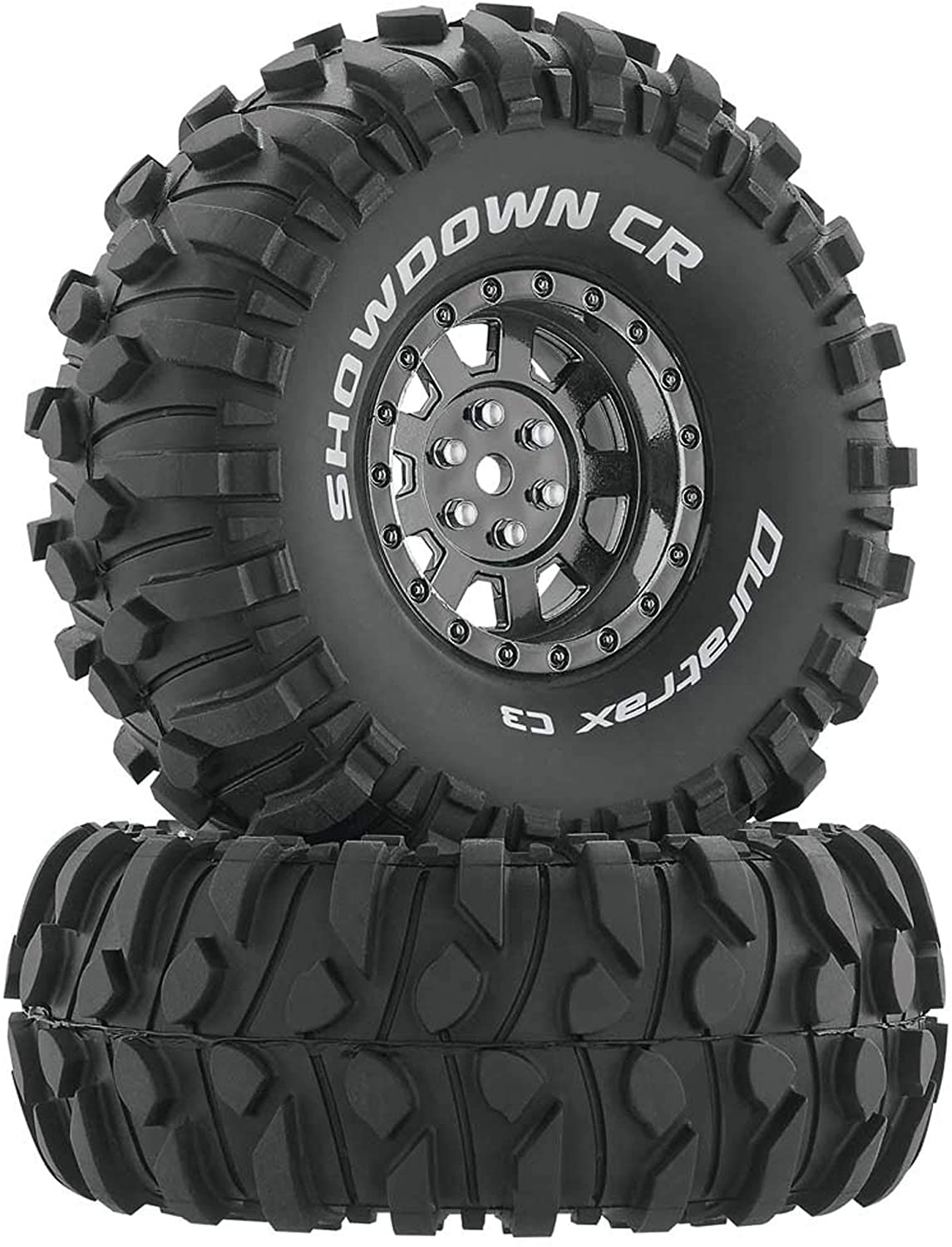 Duratrax Showdown RC Rock Crawler Tires with Foam Inserts, C3 Super Soft Compound, High Traction, 1.9