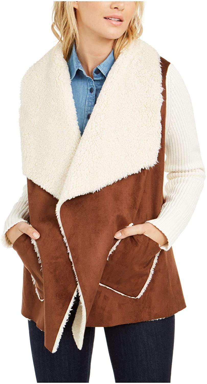Tommy Hilfiger Womens Beige Wrap Coat Size XL