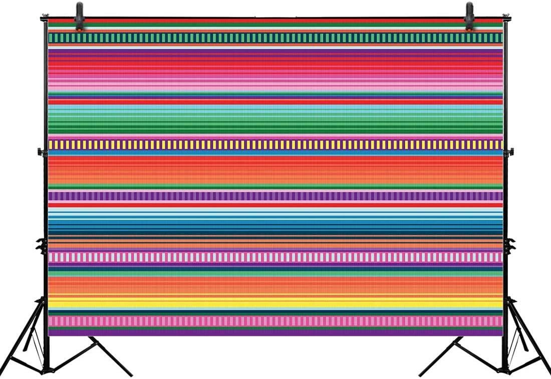 Allenjoy 10x8ft Color Fiesta Theme Party Stripes Backdrop Cinco De Mayo Mexican Festival Photography Background Cactus Banner Decoration Event Table Decor Banner Background Children Photo Booth Shoot