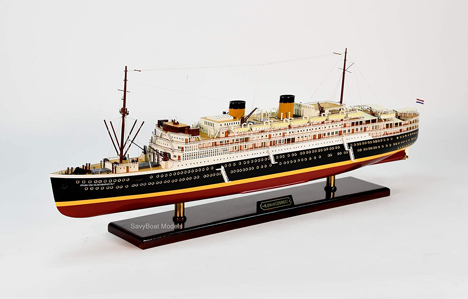 Johan Van Oldenbarnevelt Wooden Cruise Ship Model 37