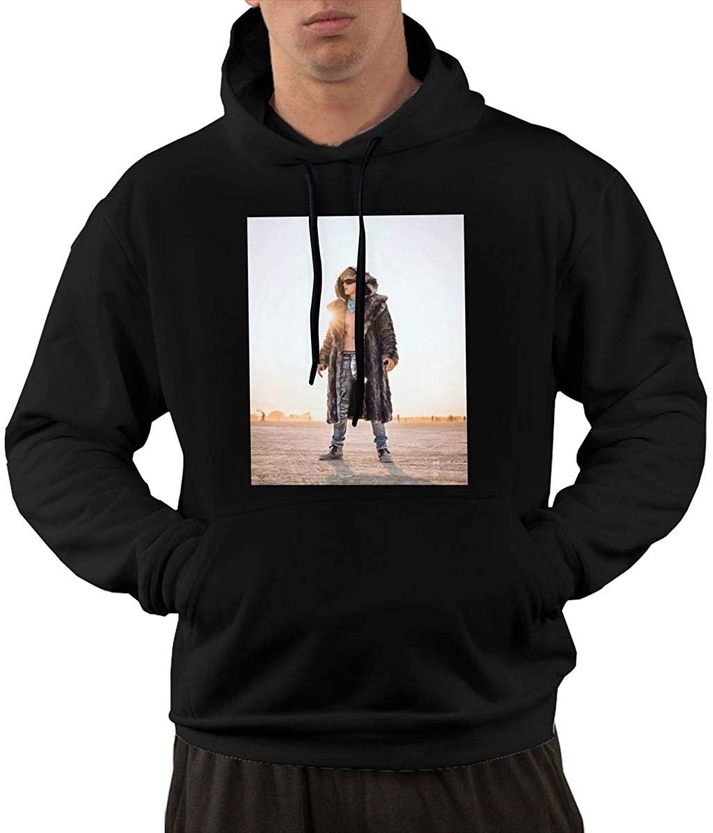 Logan Paul Men's Long Sleeve Pocket Sweatshirt Hooded Top Hoodie Black