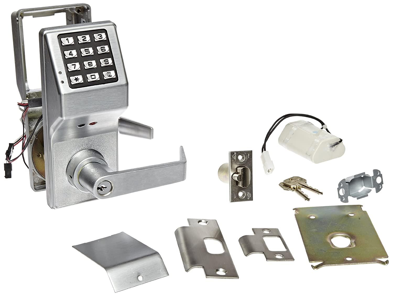 Alarm Lock Trilogy T2 200-User Weatherproof Electronic Digital Keypad Lock Single Cylinder Leverset, Satin Chrome Finish