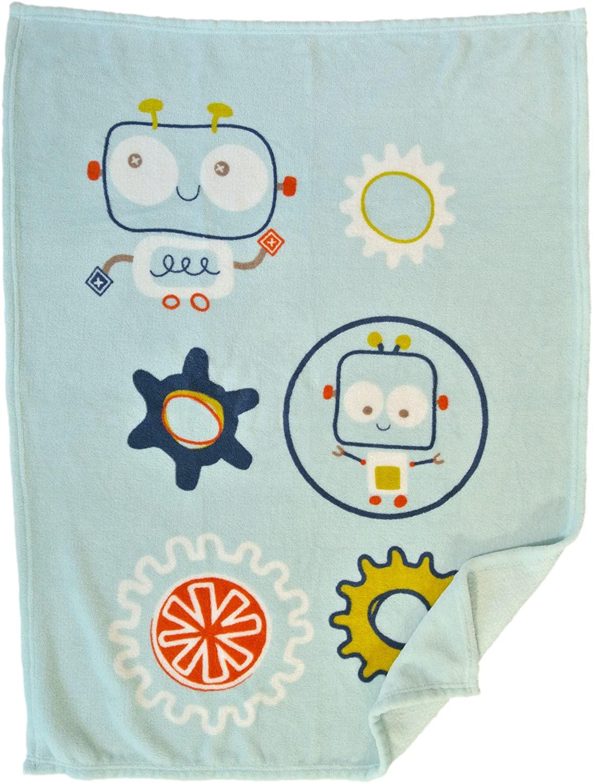 Cute New York Baby Blanket (Robot) Super Soft Fleece Baby Boy's Blanket/Cozy Blanket/Crib to Toddler/Registry Gift for Boy and Girl/Super Soft