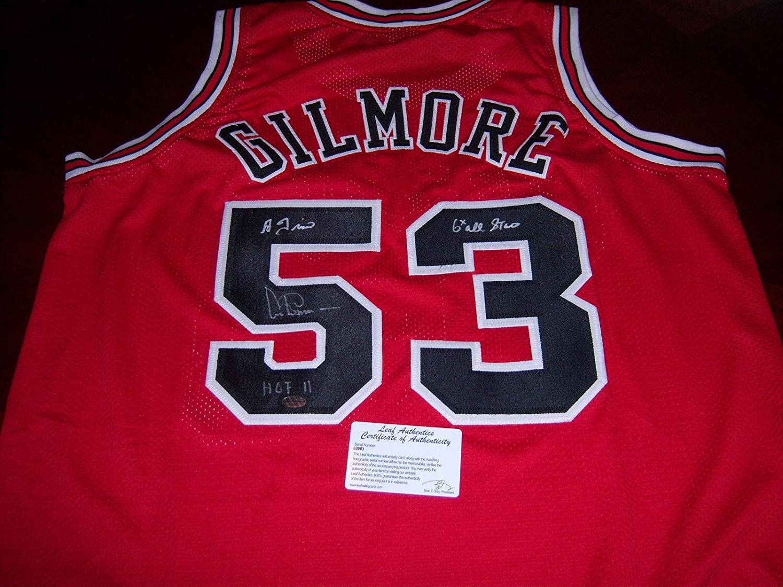 Artis Gilmore Chicago Bulls Hof 2011,a-train,6x Allstar Leaf/coa Signed Jersey - Autographed NBA Jerseys