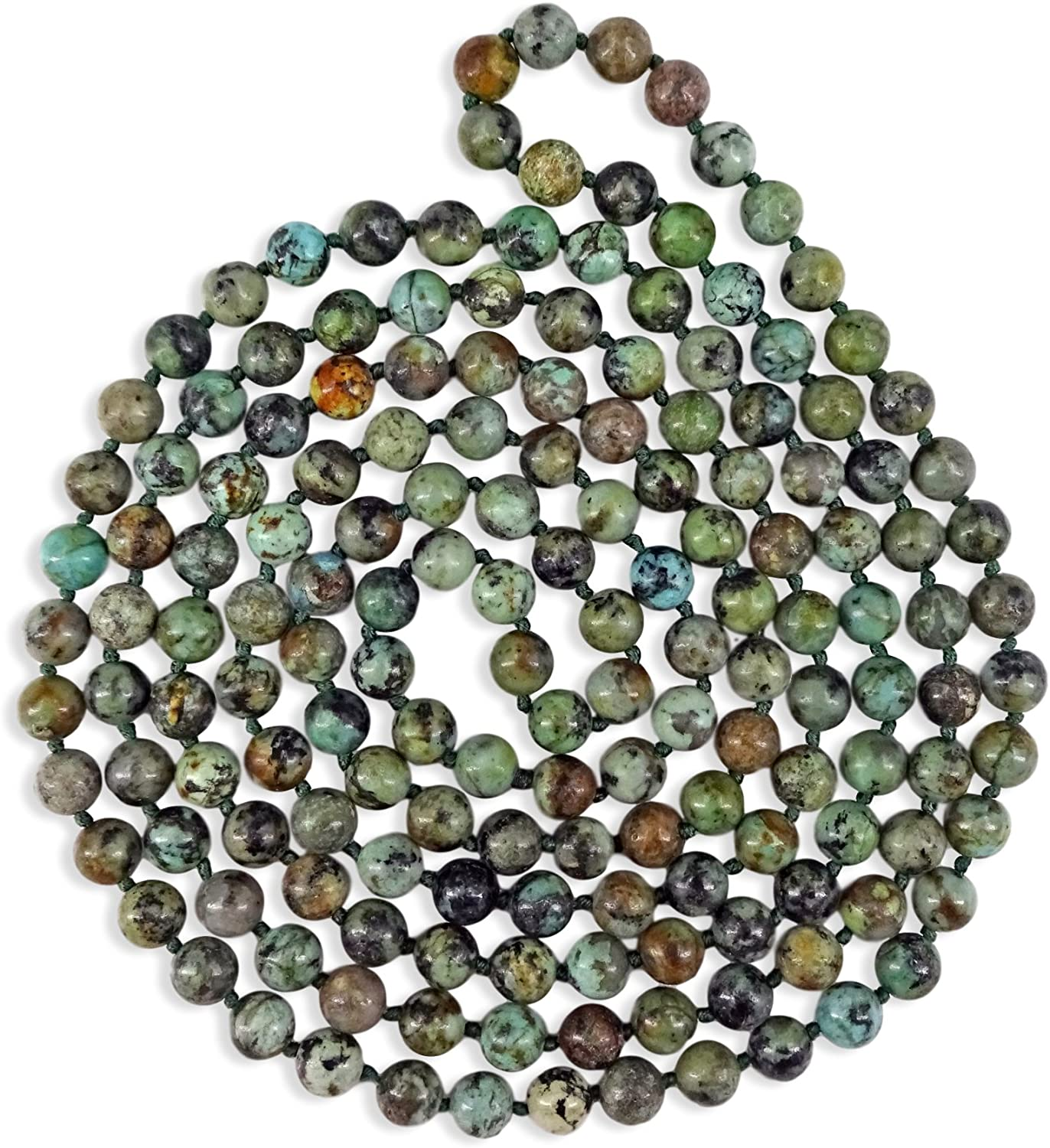 MGR MY GEMS ROCK! 60 Inch Polished Genuine Stone Multi-Layer Long Endless Infinity Beaded Necklace.
