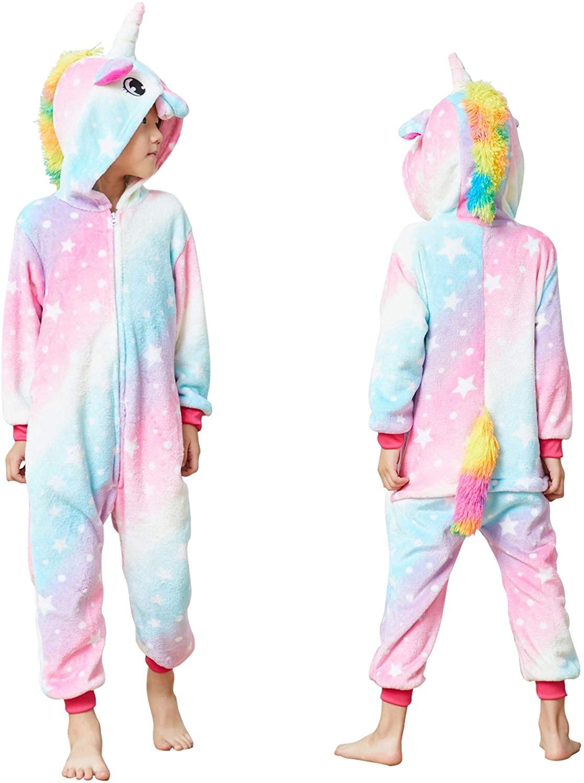 Unicorn Onesie for Kids Animal Pajamas Cosplay Halloween Unisex Costume