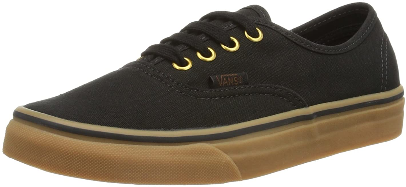 Vans Unisex Authentic Black/Rubber Skate Shoe 4.5 Men US / 6 Women US