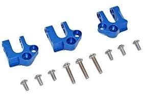 Axial 1:10 SCX10 III Wrangler AXI03007 / Gladiator AXI03006 Upgrade Parts Aluminum Center Gear Box Case Mount - 12Pc Set Blue