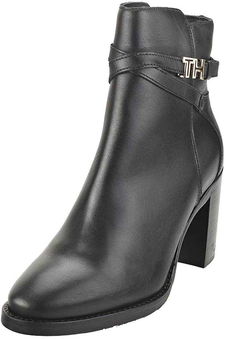 Tommy Hilfiger Hardware High Bootie Womens Ankle Boots in Black - 8.5 US