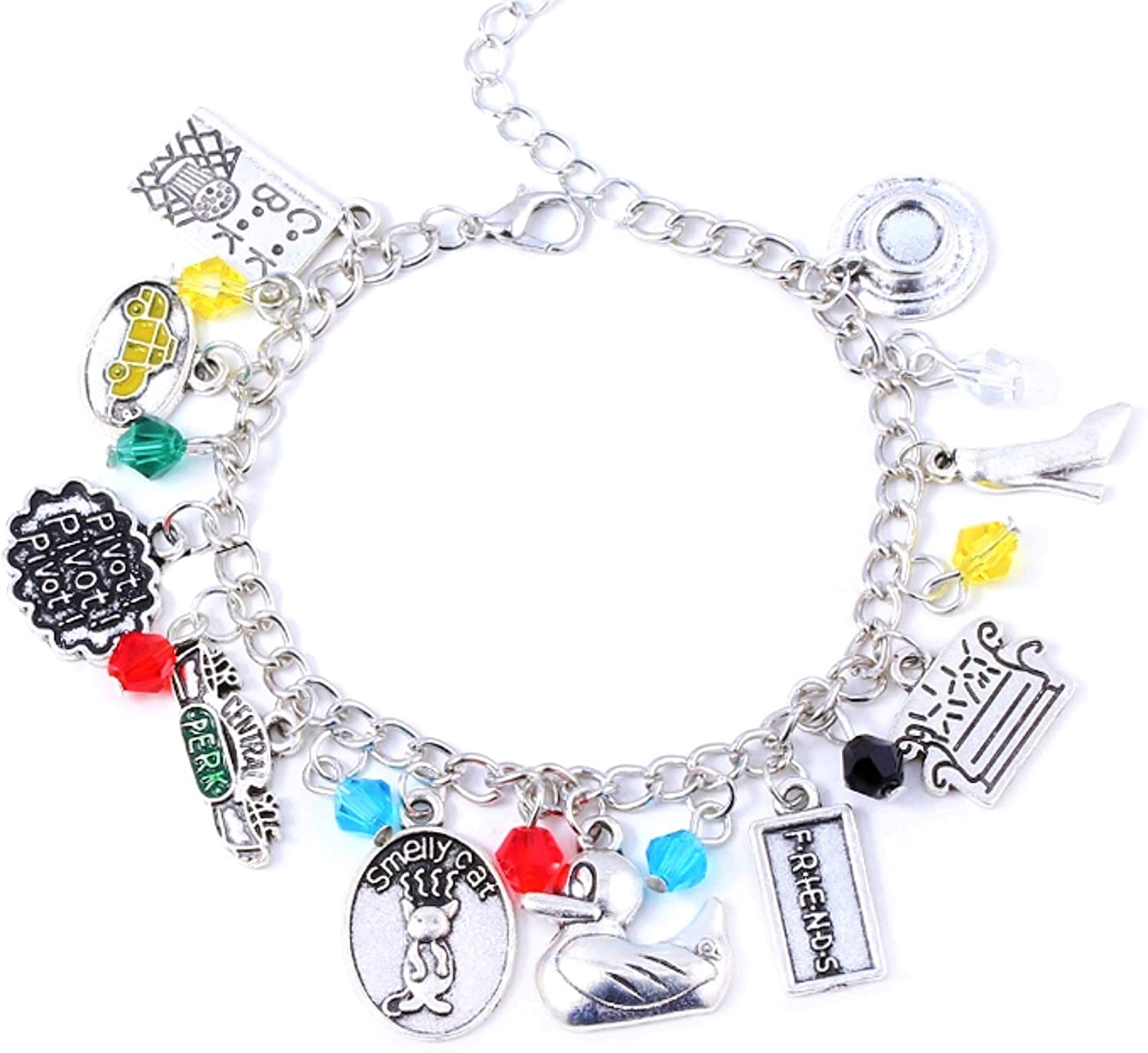 Friends Charm Bracelet (cute box) included - Merchandise Costume Jewelry Gifts for Women, gift for girlfriend, valentine with box