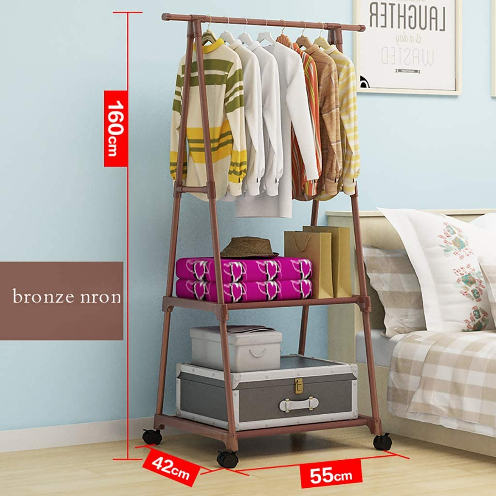 zyl Multi Function Metal Garment Rack,Space Saving Rustproof Sturdy Durable Clothes Rail,Easy Assembly Coat Rack Stand for Bedroom Clothing Store