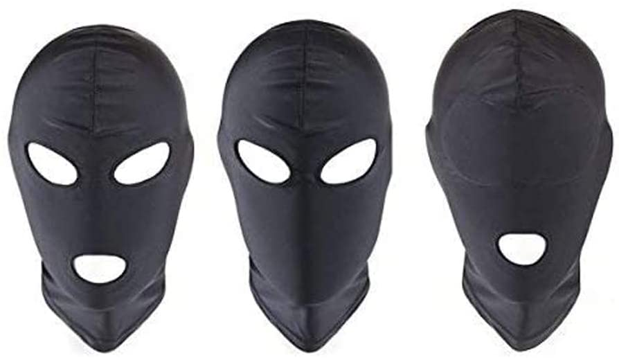 Three Different Styles Head for Men Women Couples Black Fabric Toys (3 pieces)
