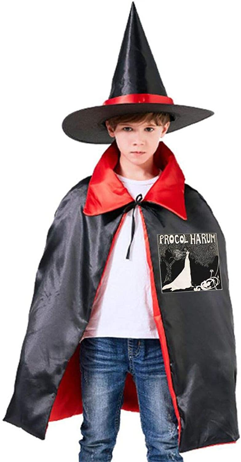 AP.Room Procol Harum Halloween Costume 2 Pcs Halloween Wizard Hat Cape Cloak Boy and Girl Party Costume