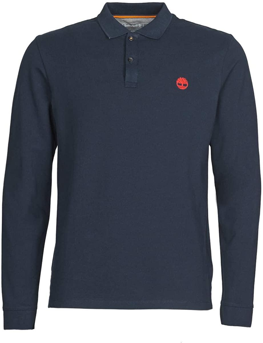 Timberland Ls Mr Polo Slim T-Shirts & Polo Shirts Men Marine - S - Long-Sleeved Polo Shirts Shirt