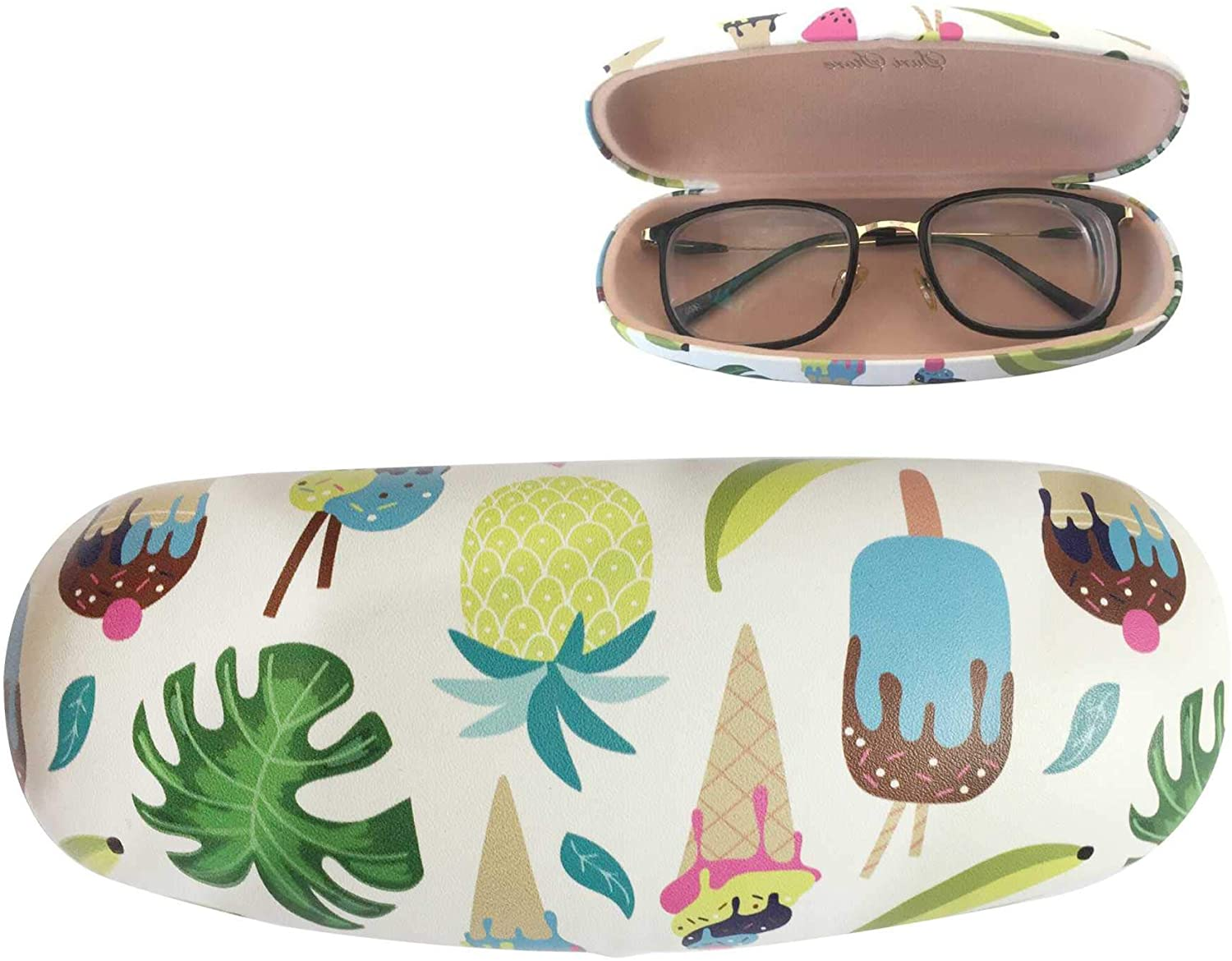 Eyeglasses Clamshell Hard Case Cactus Printed Cute Protective Holder