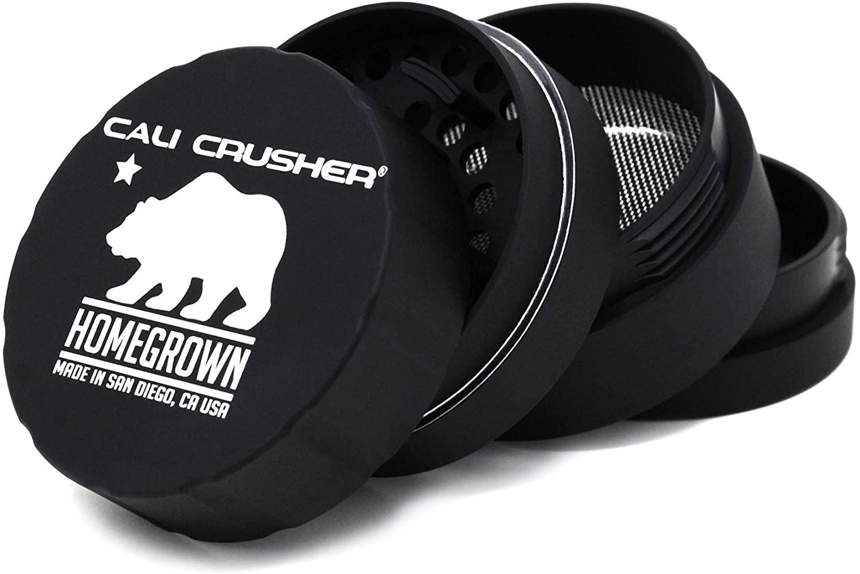 Cali Crusher Homegrown 4 Piece Grinder Black