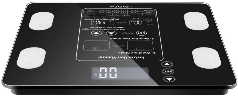 wuxiaobo Fat Scale Body Fat Scale, Body Fat Scale Smart BMI Scale Digital Bathroom Wireless Weight Scale, Body Composition Analyzer 400 Lbs-Black (Delivered from US Warehouse)