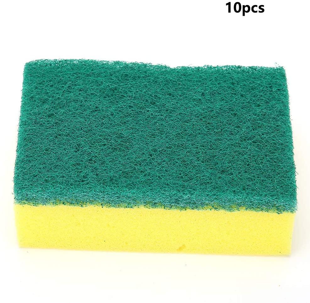 10Pcs Dish Cleaning Sponge, Kitchen Dish Bowl Washing Sponge 2-Sides Dish Cleaner Cleaning Cloth Rags 10x7x3cm