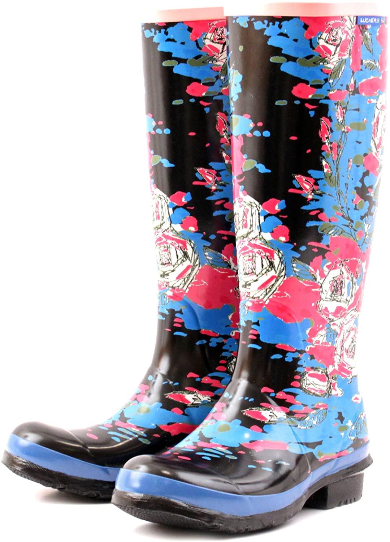 Luckers Women's Tall Wellies Rain Boots