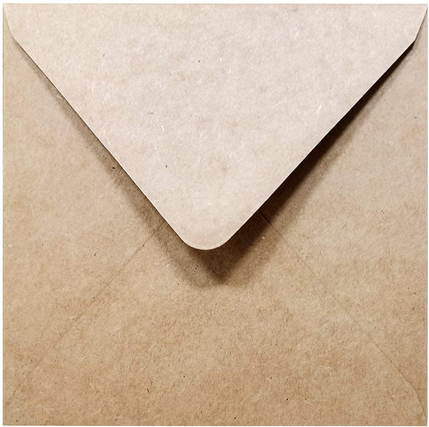 5-1/2 x 5-1/2 Square Kraft Envelopes Flapflop (100 Pcs) - Best for Thank You Notes, Greeting Cards, Weddings, Invitation | 100lb. Paper by Secret Life