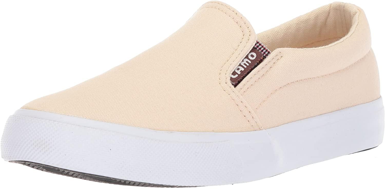 Lamo Women's Piper Casual Slip On Sneaker Shoe, Canvas, White