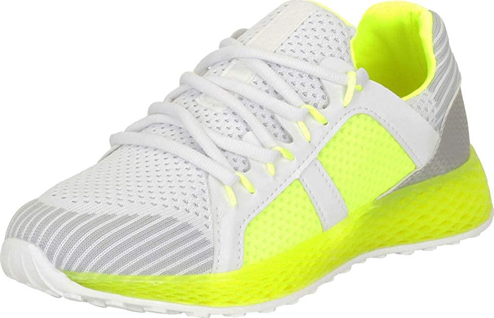 Cambridge Select Women's Low Top Print Colorblock Lace-Up Casual Sport Fashion Sneaker