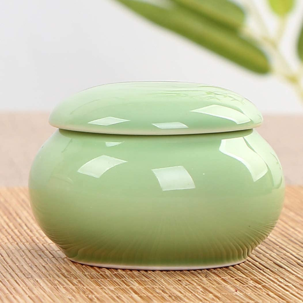 BERTERI Keepsake Urn for Human Ashes Ceramic Mini Funeral Cremation Urns for Pet Ashes Decorative Urn