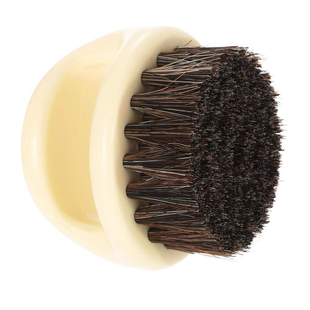 Borogo Beard Brush for Men - Men's Beard Brush (Essential Tool For Professional Barbering & Grooming Services), Brush Neck Face Duster Brush for Hairdressing Salon Household (Black+Yellow)
