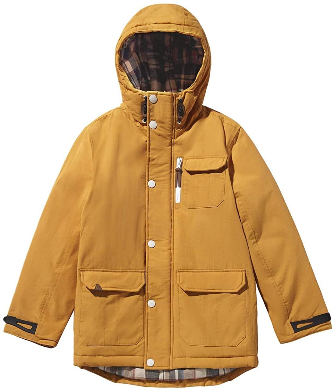 SOLOCOTE Boys Coats Kids Winter Jacket Warm Thick Heavyweight Tough Long Windproof Outwear with Hood