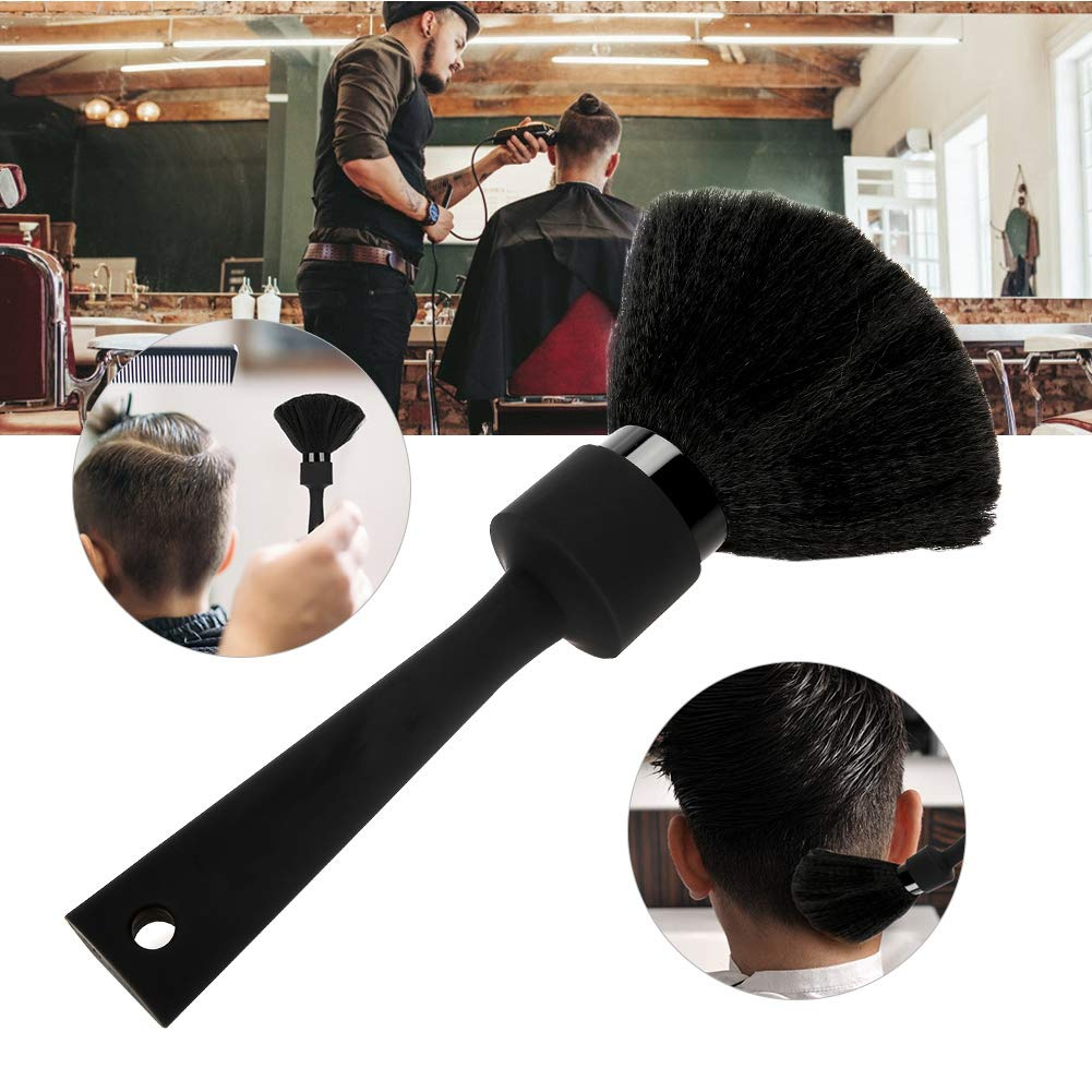 Soft Hair Cut Brush, Neck Duster Hairdressing Hair Cutting Styling Cleaning Brush, Face Neck Back Duster Cleaning Brush for Salon Barber Home Use