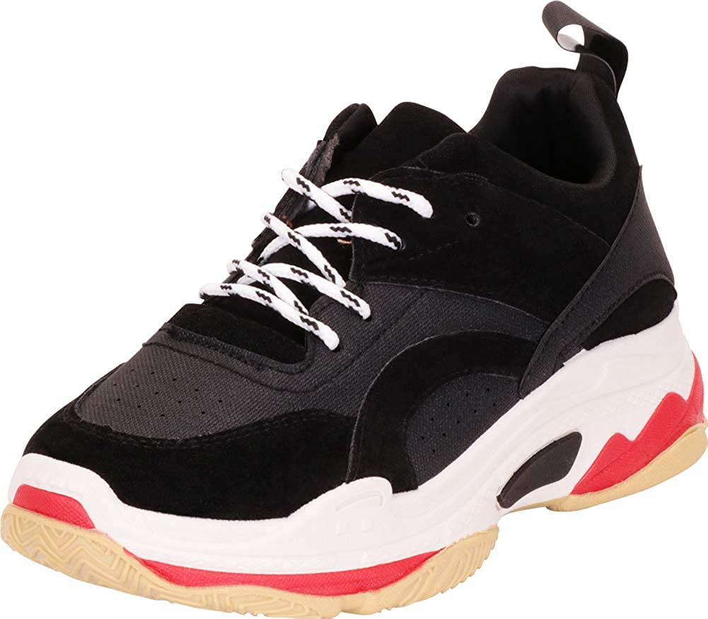 Cambridge Select Women's Lace-Up Retro 90s Ugly Dad Chunky Platform Fashion Sneaker
