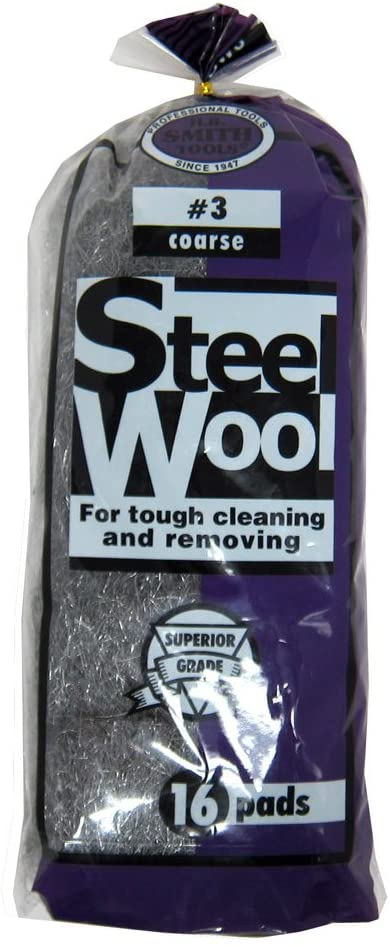 H.b. Smith Tools Steel Wool, 16 Pads (#3 Coarse)