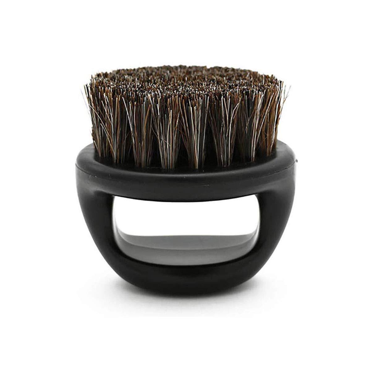Men Shaving Brush ABS Handle Portable Barber Beard Brushes Cleaning Razor Brushs,Black
