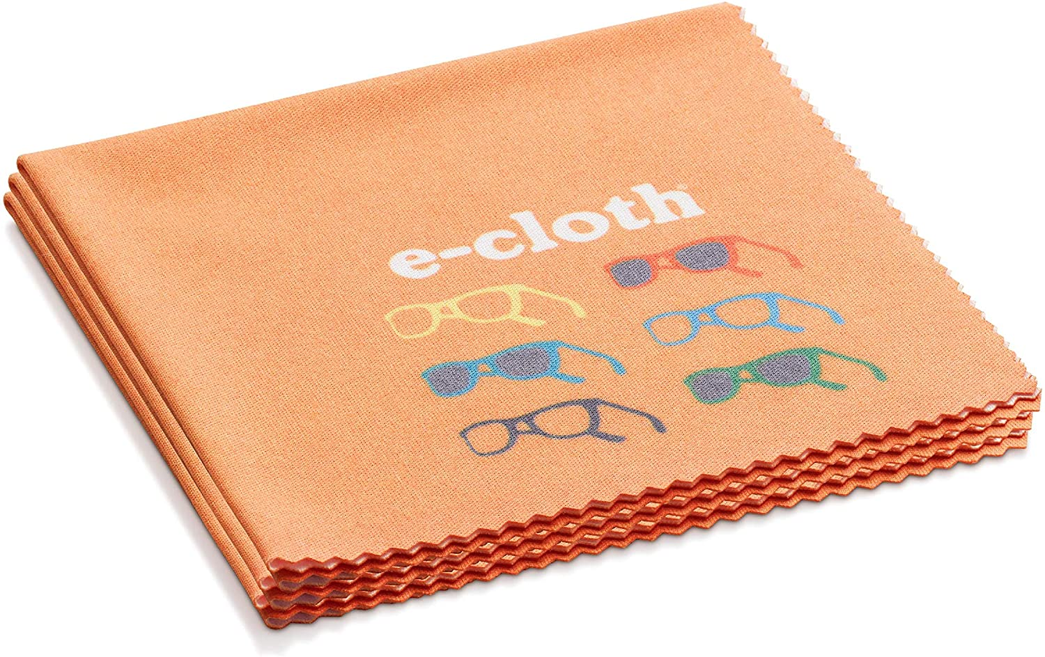 E-Cloth Glasses Microfiber Cleaning Cloth for Cleaning Eyeglasses & Sunglasses, 3 Count