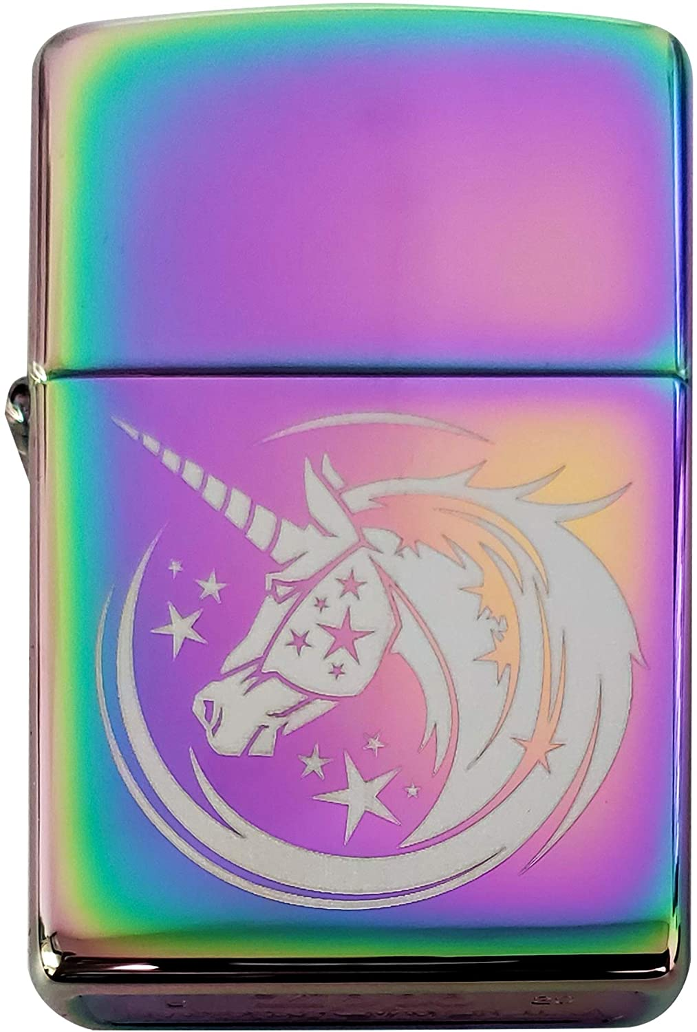 Zippo Custom Lighter - Starry Majestic Unicorn Design - Regular Spectrum - Gifts for Him, for Her, for Husband, for Wife, for Them, for Men, for Women