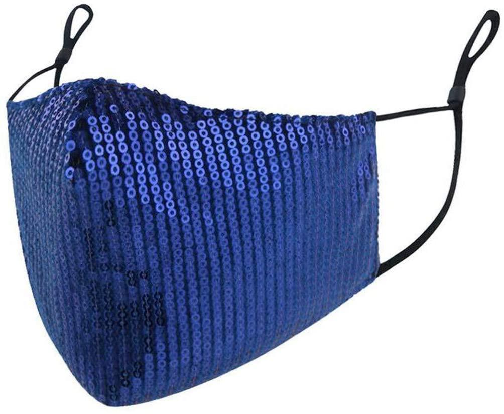 ShaggyDogz Adults Sequins Cotton Halloween Fashion Washable Reusable Adjustable Bandanas Unisex for Woman Man Comfortable Costume Outdoor Daily Wear