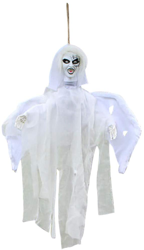 Halloween Flying Ghost Electric Luminous Sound Control Outdoor Yard Hanging Decoration Horror Demon (A)