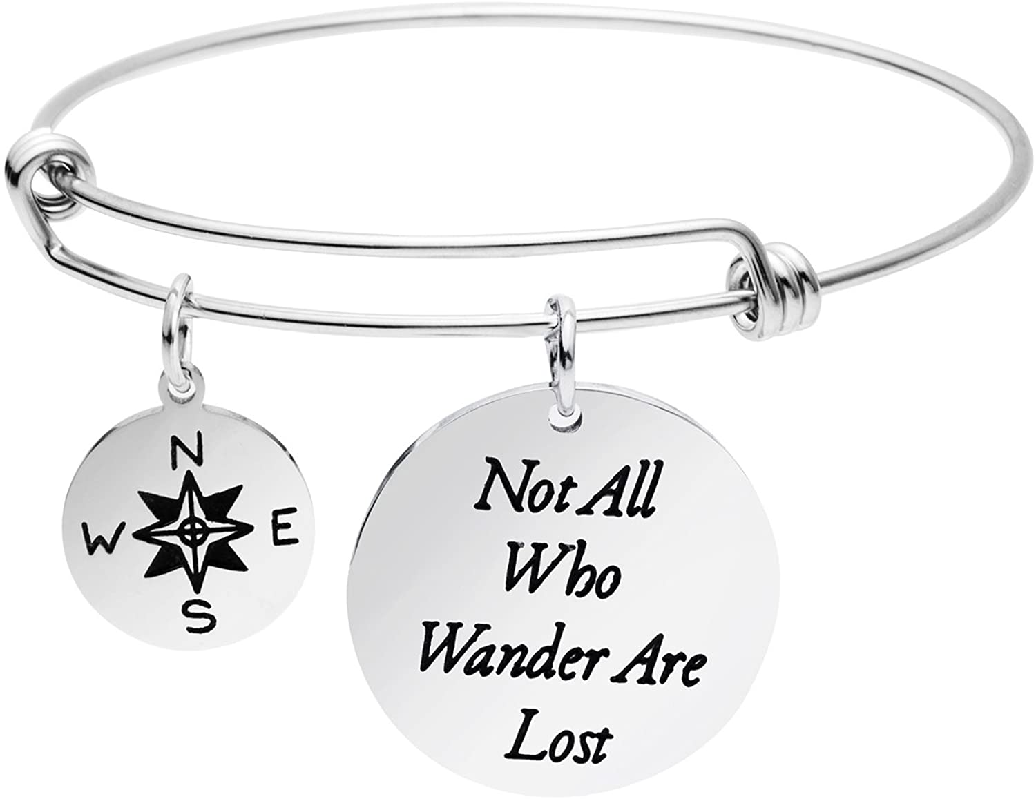 Yiyangjewelry Inspirational Bracelet Gifts for Friends Friendship Bracelets Inspirational Bangle Engrave Encouragement Message