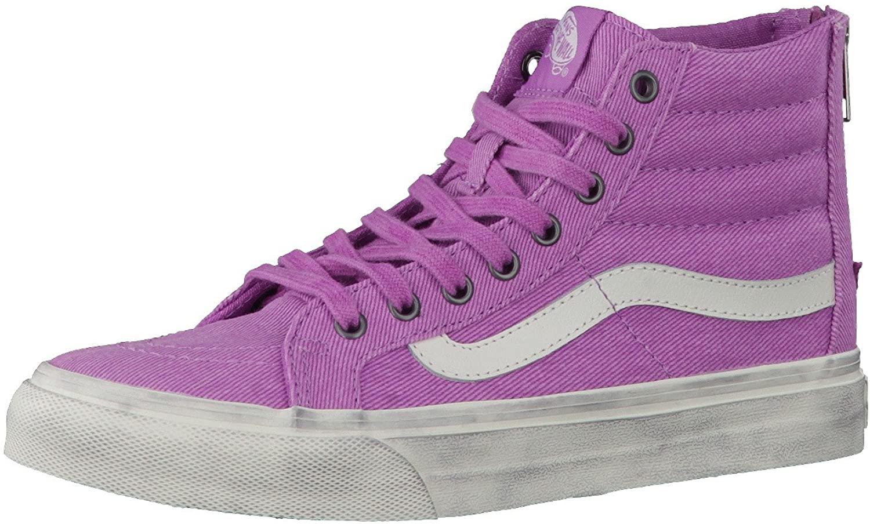 Vans Unisex Sk8-Hi Slim Zip (Overwashed) Skate Shoe